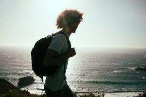 Youth Beside Beach Walking